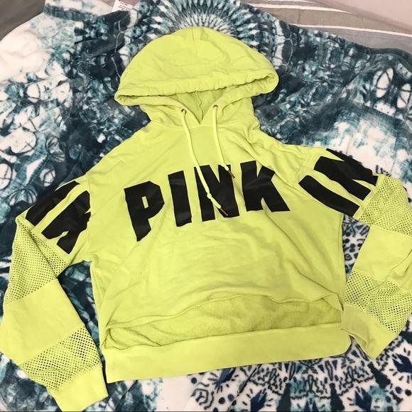 PINK Victoria's Secret Sweaters - Pink ~ cropped hoodie